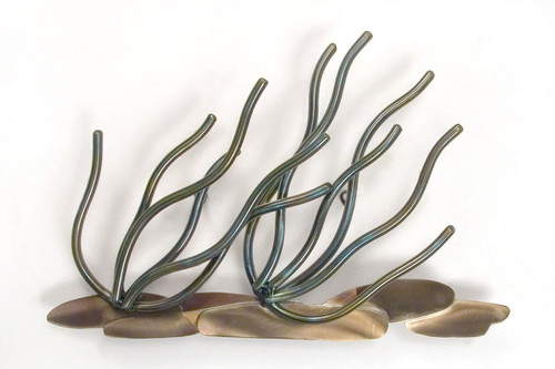 Soft Coral Branches - Metal Wall Art