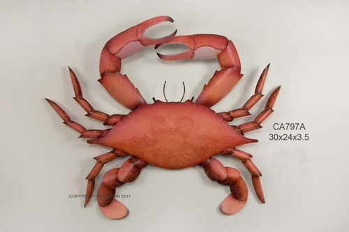 Cooked Blue Crab Metal Wall Art