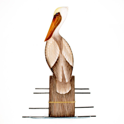 Wooden Pelican on Piling CW324