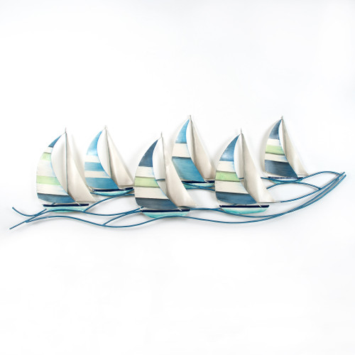 Fancy Regatta Metal Wall Art CA210