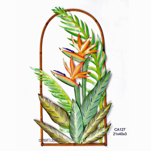 Bird of Paradise Arch Metal Wall Art