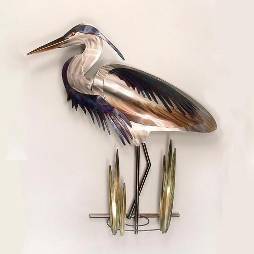 Heron Facing Left Copper Art