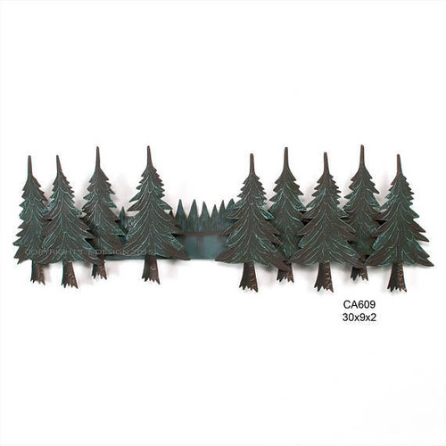 Pine Tree Swag Metal Wall Art