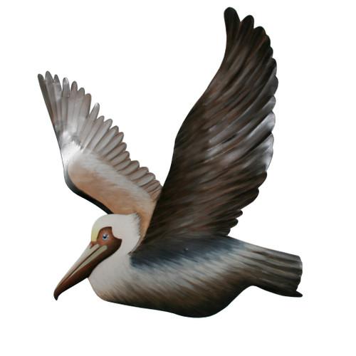 Pelican Flying - Metal Wall Art Left
