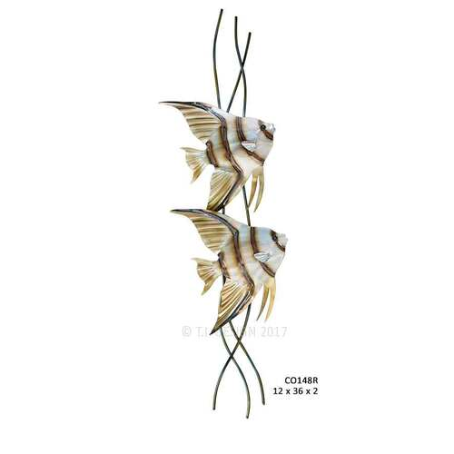 Angelfish Pair Vertical Facing Right CO148R