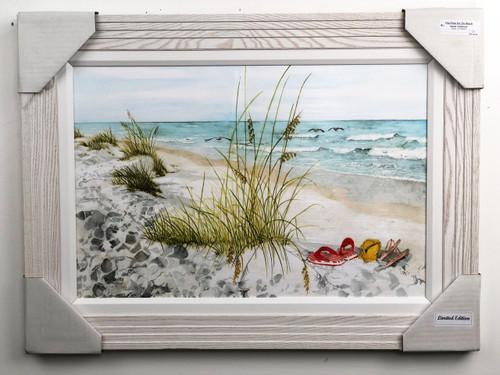 "Flip Flops on the Beach Painting FD24016 30""x22"""