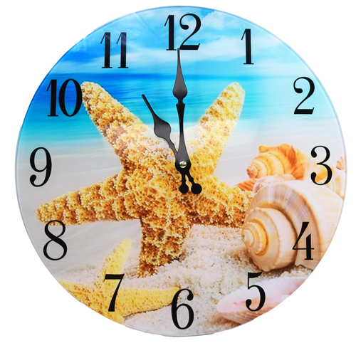 Glass Shell Wall Clock