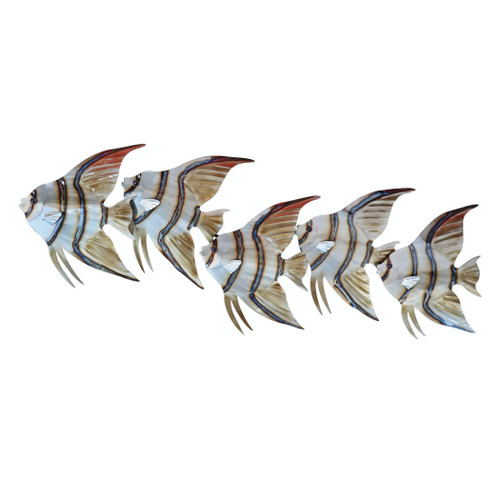 Angelfish School of 5 Metal Wall Art CO150