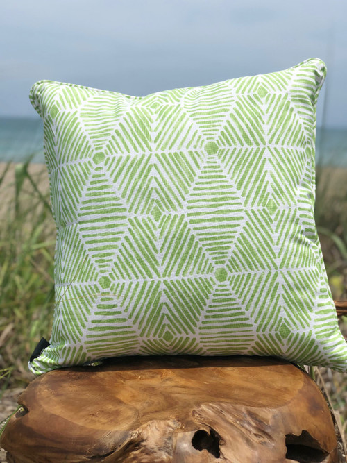 Lime Green Pillow Indoor/Outdoor Fabric