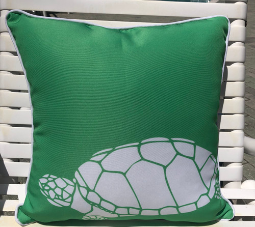 Sea Turtle Outdoor Style Pillow 18 x 18