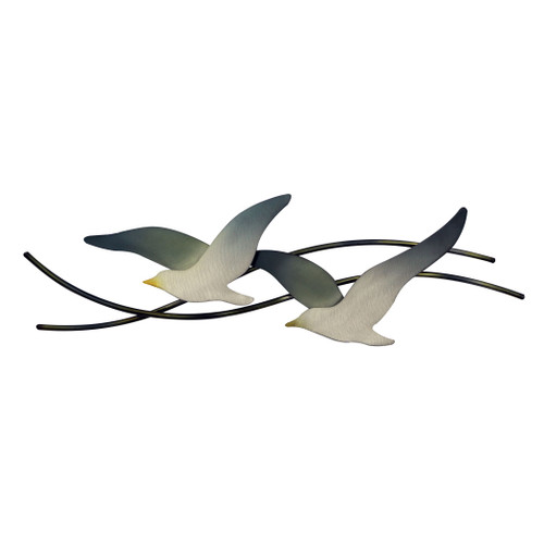 Pair of Flying Seagulls Metal Wall Art