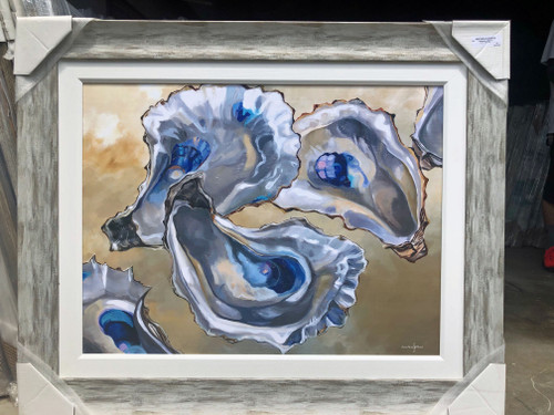 """Large Oyster Painting 43 x 35"""""""