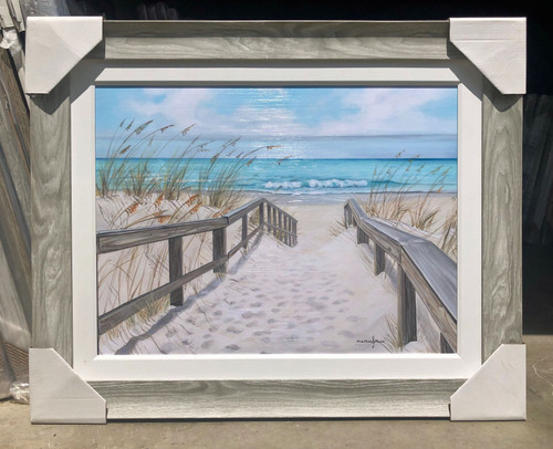 """Sand Dunes with Path Painting Large 43 x 35"""""""