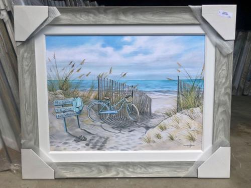 "Beach Bike on Sand Dunes Painting 44 x 35"""