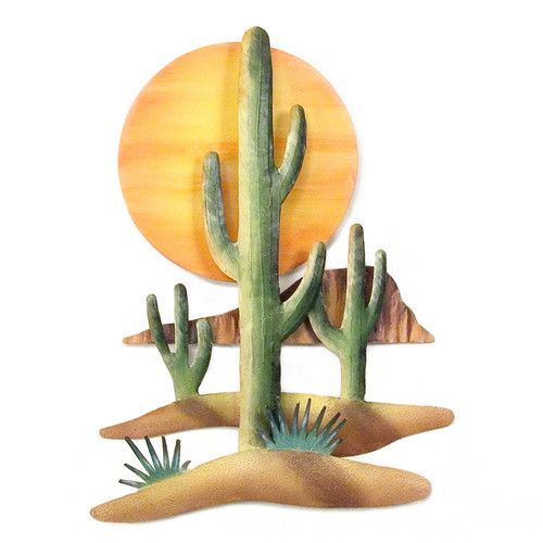 Southwest Setting Sun Metal Art CA031