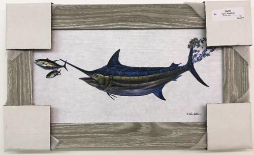 "Swordfish Hunting Dinner Painting 19"" x 12"" FD62965"