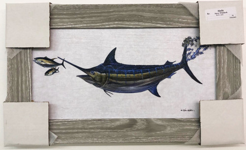 """Large Marlin Hunting for Dinner,  Painting 51"""" x 31"""""""