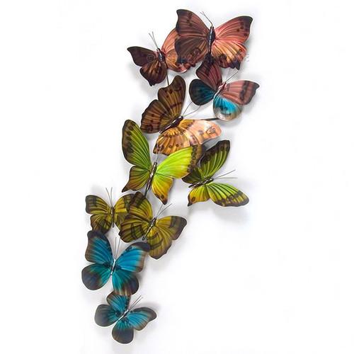 Mixed Flight Butterflies Metal Wall Sculpture
