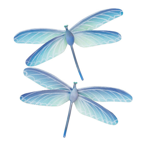 Dragonfly Pair  Blue Metal Wall Art CA279