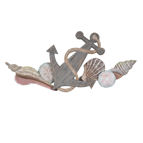 Anchor and Shells Wooden Swag - CW117