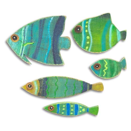 Tropical Fish School of 5 C497