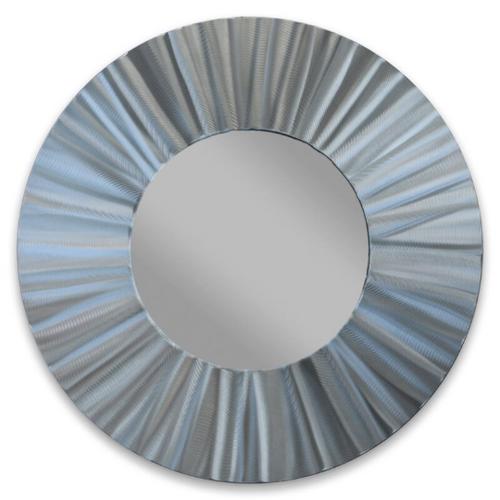"""Radiant Circle Aluminum Mirror 28"""""""