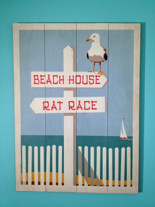 Rat Race, Beach House Wall Sign