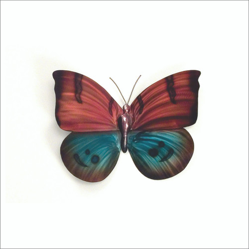 Stainless Butterfly Red n Blue