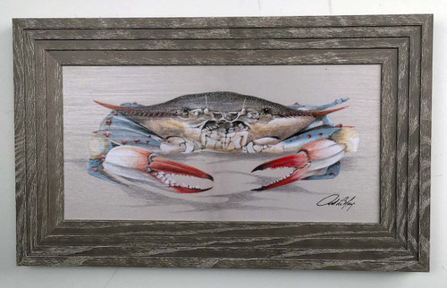 "Blue Crab Framed Art 12"" X 19"""