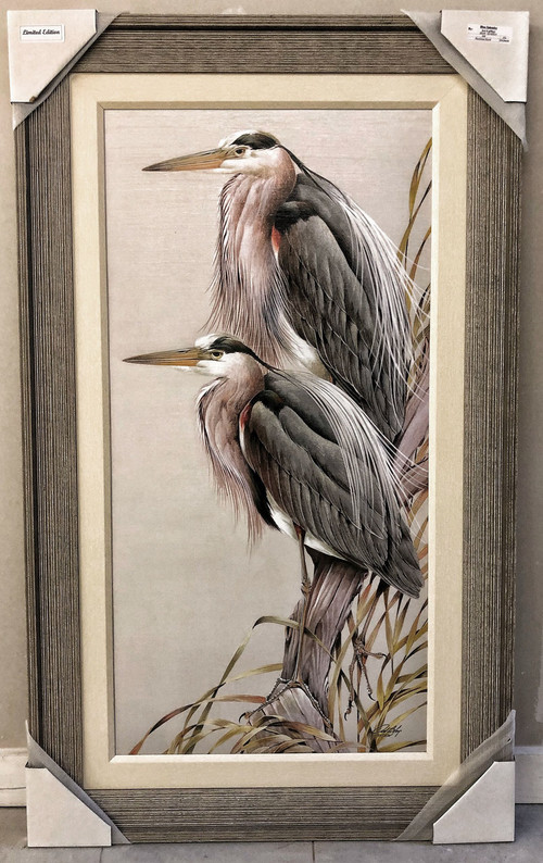 "Herons Splendor Blue  50"" x 30"""