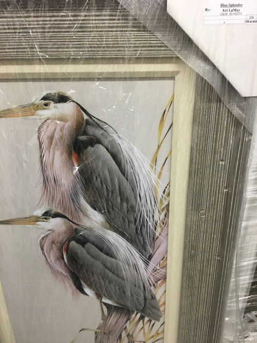 """32"""" X 20"""" Large wooden frame with fabric mating."""