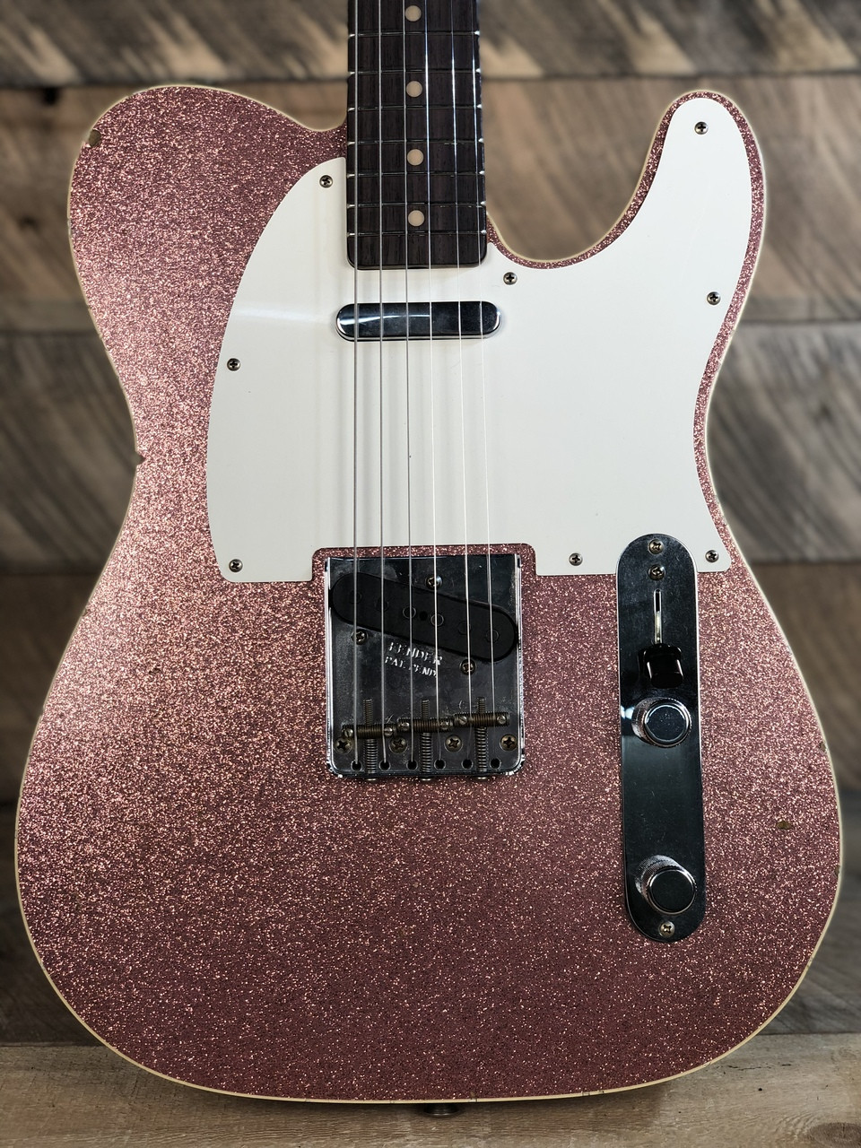 Fender Custom Shop Vintage Custom Journeyman Relic '59 Telecaster Rosewood  Fingerboard Faded/Aged Champagne Sparkle CZ539922 - The Guitar Store