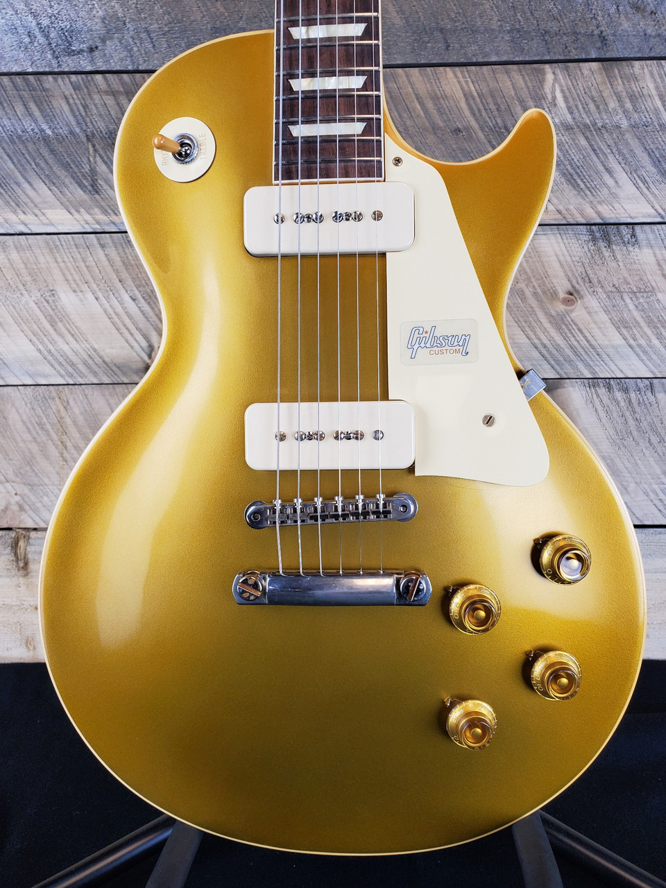 1448ed5715 Gibson Custom Shop 1956 Les Paul Goldtop Reissue R6 VOS - 69038 - The  Guitar Store
