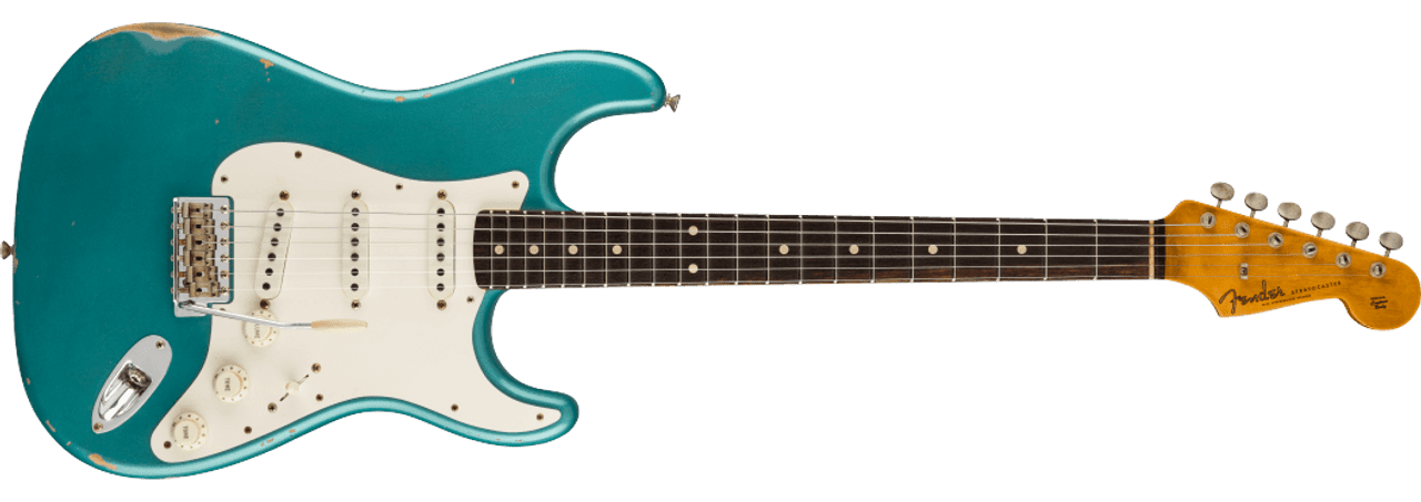 Fender Custom Shop Limited Edition 1959 Stratocaster Relic Faded Aged Ocean Turquoise CZ549097