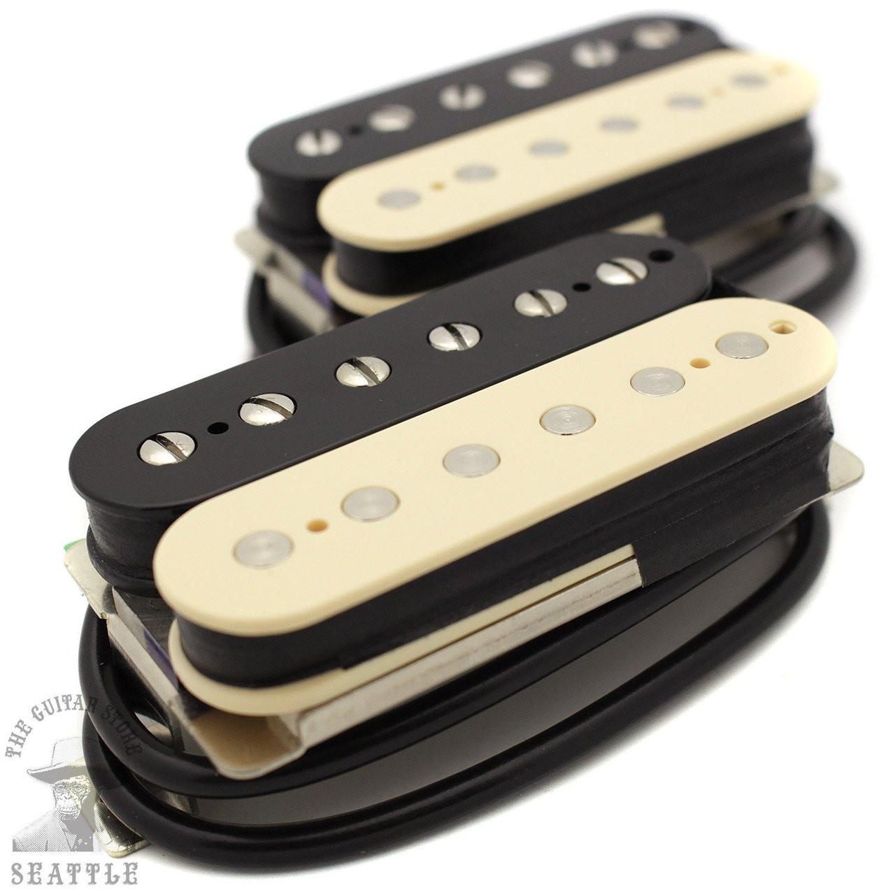 Wolfetone Dr  Vintage Uncovered Zebra Humbucker Set Guitar Pickups