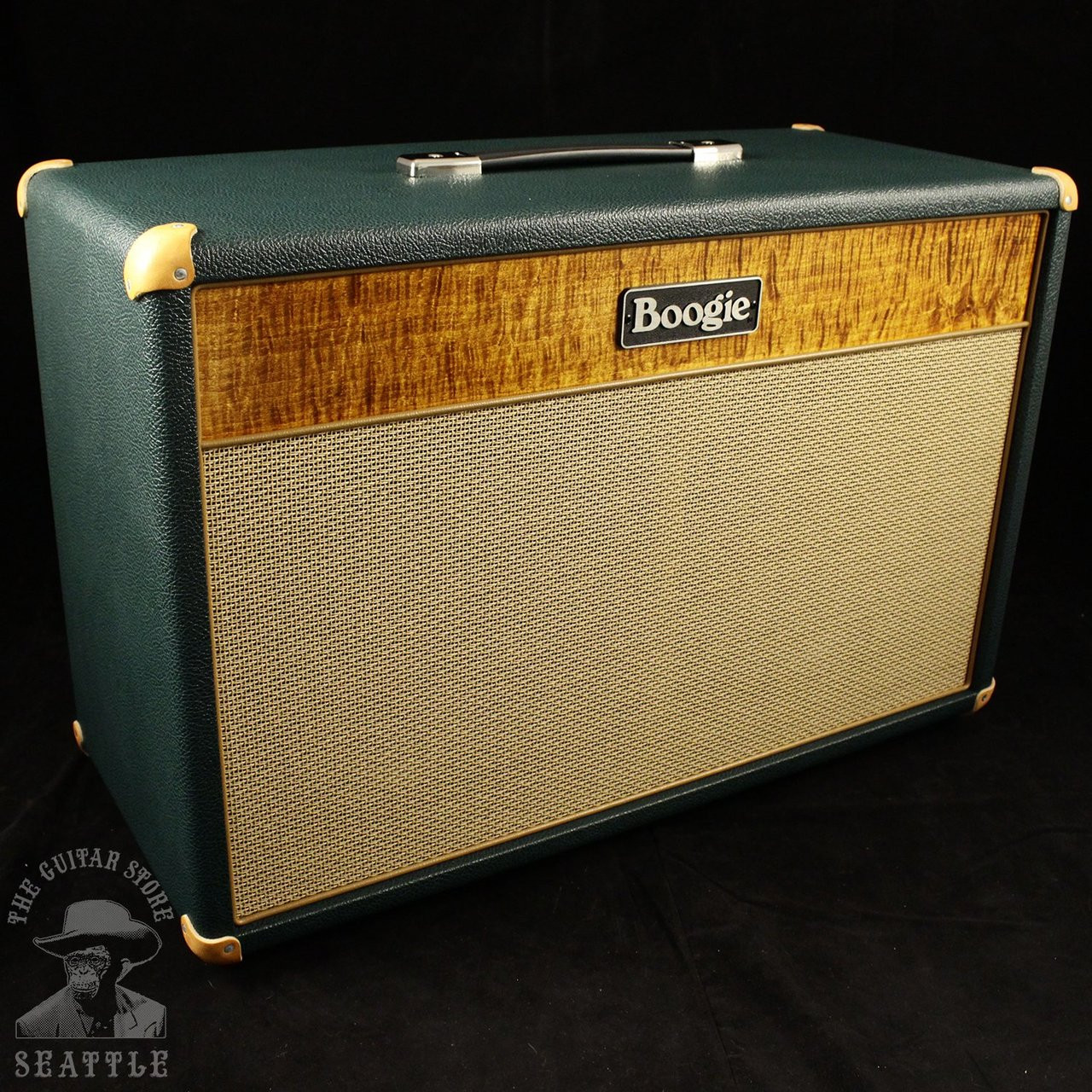 Mesa Boogie Lone Star 2x12 Guitar Speaker Cabinet Amber Flamed Wiring 1x12 Maple Front Panel Emerald Bronco