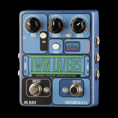 Mr. Black Twin Lazers Stereo Phase Shifter Pedal