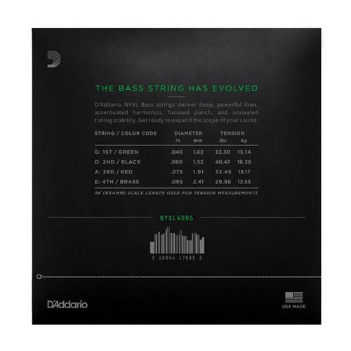 D'Addario NYXL4095 Set Long Scale  Super Light Bass Strings 40-95