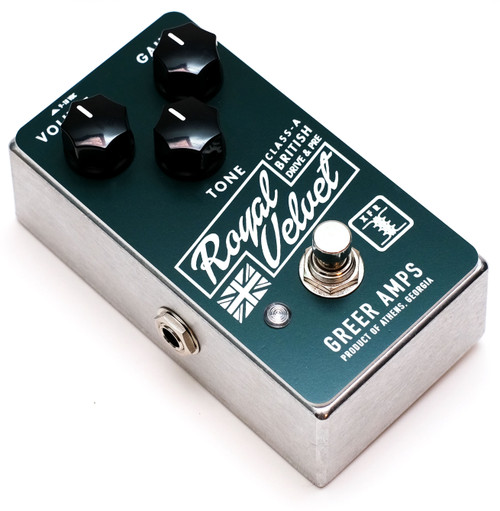 Greer Royal Velvet Class-A British Drive and Preamp Pedal