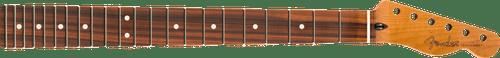 "Fender Roasted Maple Telecaster Neck 22 Jumbo Frets 12"" Pau Ferro Flat Oval Shape 0990303920"
