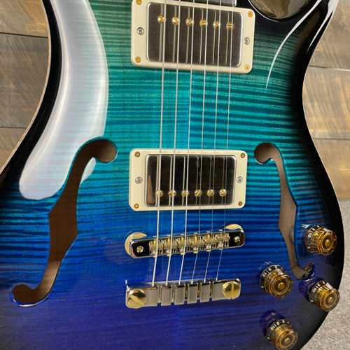 PRS McCarty 594 Hollowbody II Artist Package Custom Color - Blue Fade Smokeburst 312743