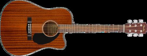 Used Fender CD-60SCE Dreadnought Walnut Fingerboard All-Mahogany 0970113022