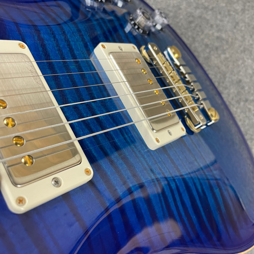 PRS McCarty 594 Flame Maple 10 Top Custom Color - Sapphire 324967