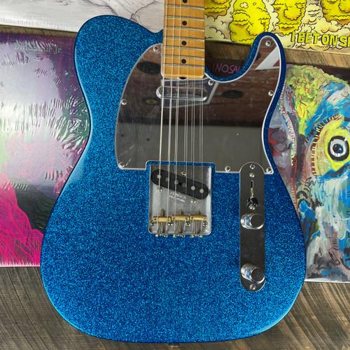 Fender J Mascis Telecaster Maple Fingerboard Bottle Rocket Blue Flake JM001178