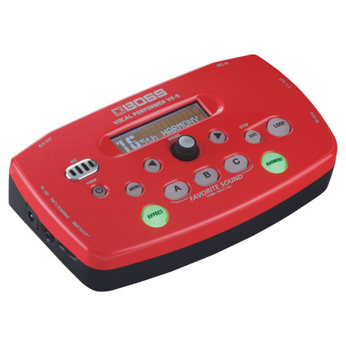 Boss VE-5-RD Vocal Effects Processor Red
