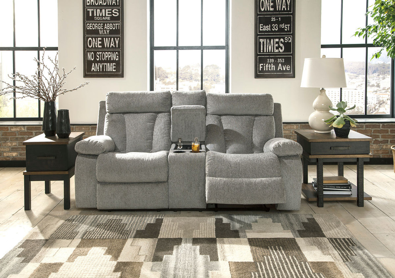 Astonishing The Mitchiner Fog Double Reclining Loveseat Stanah Tables Interior Design Ideas Inesswwsoteloinfo