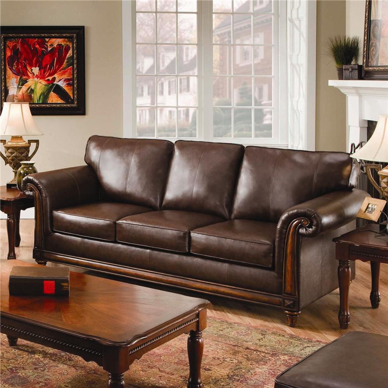 The San Diego Leather Sofa available at Discount Furniture Center ...