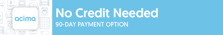 Apply for a 90 day payment option with no credit needed with Acima.