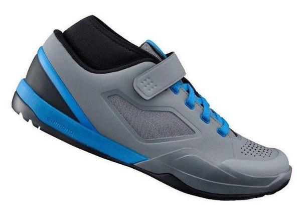 SHIMANO SH-AM701 有鎖山地鞋-灰藍色 / SHIMANO SH-AM701 MTB SHOES WITH LK-GRAY/BLUE