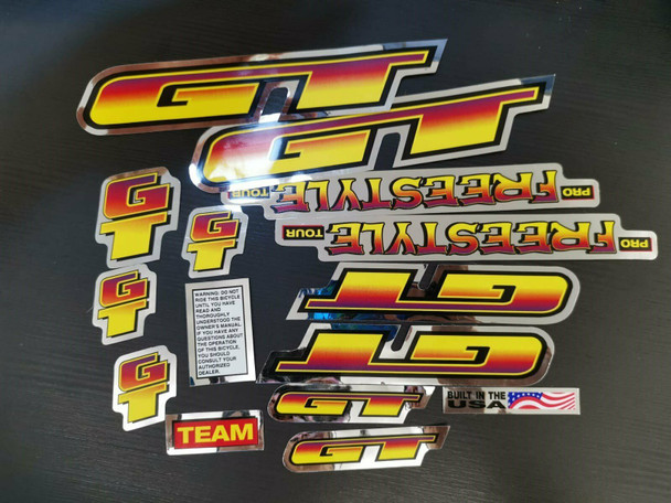 GT BMX FREESTYLE 貼紙 懷舊GT品牌貼紙套裝